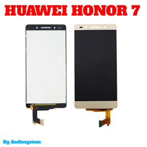 DISPLAY-LCD-TOUCH-SCREEN-HUAWEI-PER-HONOR-7-PLK-L01-GOLD-ORO-VETRO