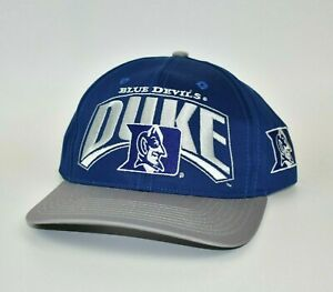 Duke-Blue-Devils-Vintage-90-039-s-Twins-Enterprise-NCAA-Adjustable-Snapback-Cap-Hat