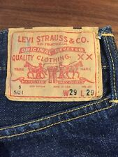 RARE 1960s Levi's Big E  Red Line Selvedge 501 S