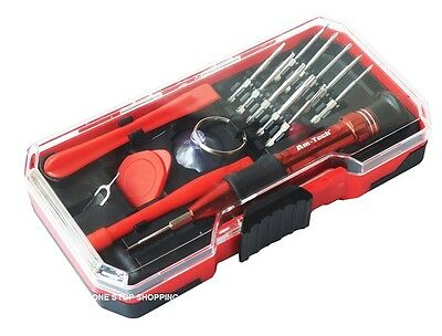 17PC PRECISION PHONE & COMPUTER PC TABLET LAPTOP REPAIR TOOL KIT SET IN CASE