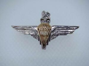 Details about New 9ct yellow & white Gold PARACHUTE REGIMENT Lady's  Sweetheart Brooch Pin