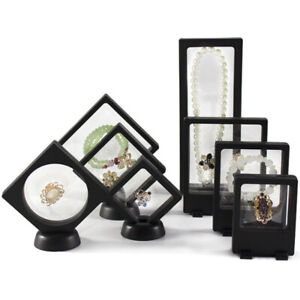 Jewelry-Suspended-Coins-Floating-Display-Case-Stand-Holder-Box-Easy-Use