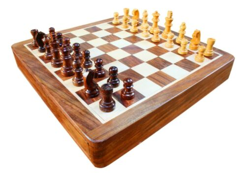 Welsh Dragon Wooden Chess Set and Magnetic Board FREE Engraving Gift 391