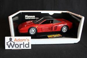 Bburago-Transkit-Ferrari-Testarossa-1984-034-cabriolet-034-1-18-red-top-closed-PJBB