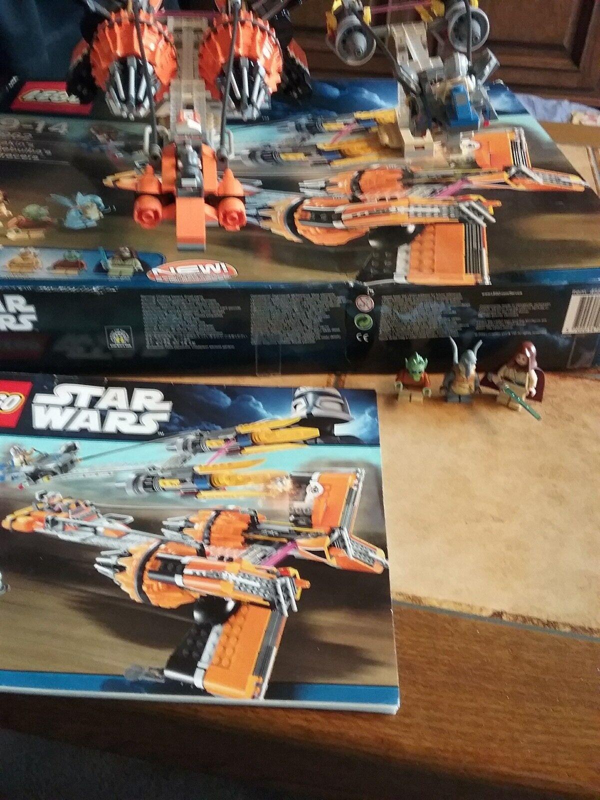 Lego 7962 Star Wars - Anakins & Sebulba`s Podracers - OVP,  BA + ALLE FIGUREN