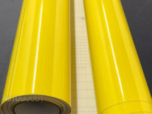 12-034-x-60-034-Super-Gloss-Yellow-Vinyl-Film-Wrap-Sticker-Air-Bubble-Free-1ft-x-5ft