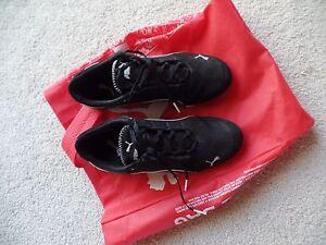 Image is loading Puma-Women-039-s-Black-Leather-Sneakers-38- 6b00bdd85