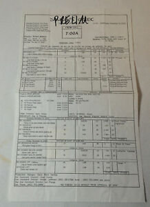 DAWSON'S CREEK set used CALL SHEET ~ Season 6, Episode 11