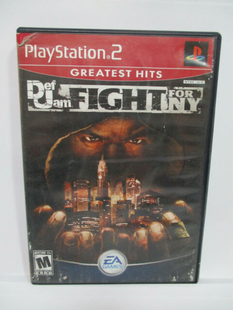 DEF JAM FIGHT FOR NY PS2 PlayStation 2 Game Missing Manual