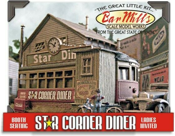 BAR Mills estrella SCALA HO 602 Kit di costruzione Diner HH