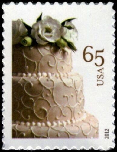 2012 65c Wedding Special Issue, Cake Scott 4602 Mint F/