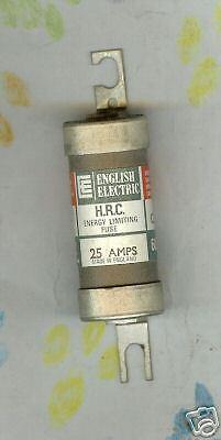 ENGLISH ELECTRIC HRC C25K FUSE 25 AMP 600 VOLT