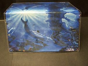 TRANQUIL DOLPHINS SEA TURTLES& CORAL PRETTY VINYL ...