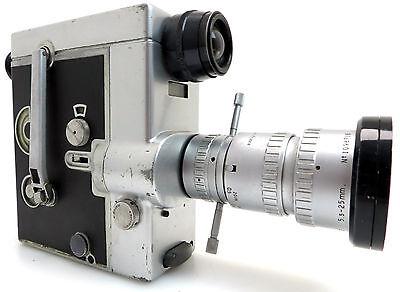 Movie Camera doppel 8 Film #706465, P.ANGENIEUX Zoom 5,5-25mm #1098716 bm124