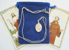 St. Francis of Assisi Saint Medal & 24 Inch Necklace