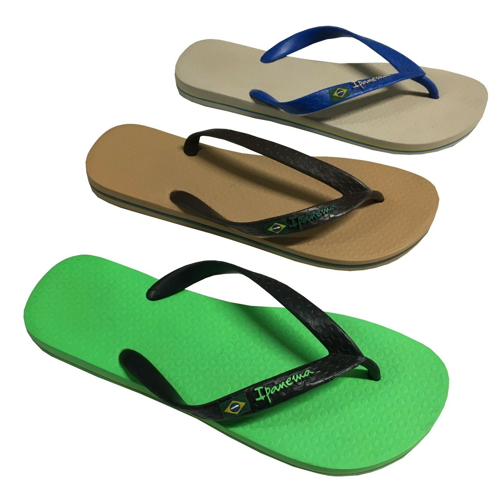 Details about Ipanema Men's Flip Flops Mod. Classical Brasil II ad Ff 80415 Made in Brazil