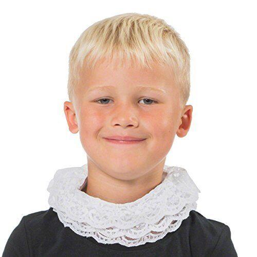 Blanc ÉLISABÉTHAIN TUDOR collerette enfants une taille s/'adapte à toutes les