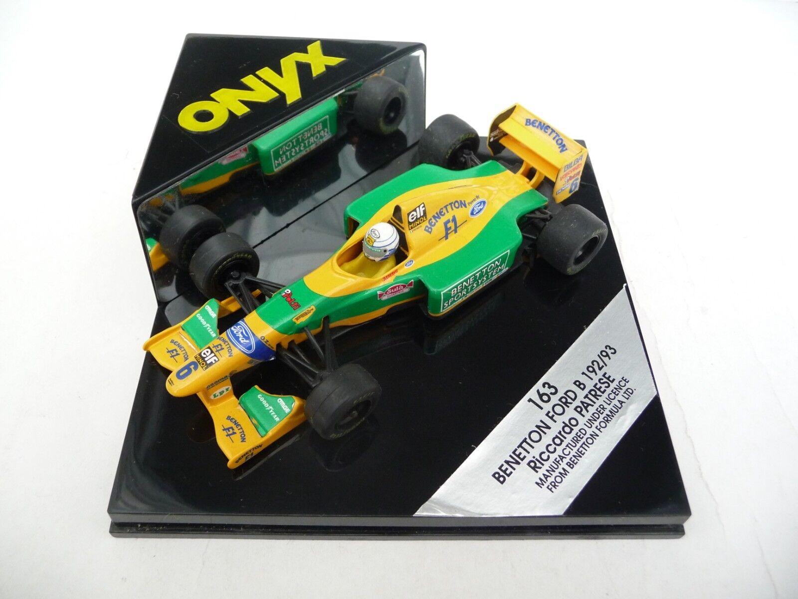 Onyx 1 43 Benetton Ford B192 193 Riccardo Patrese ONYX163