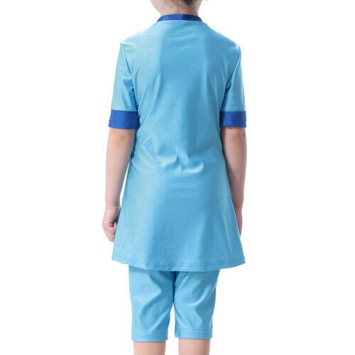Kid Girl Muslim Swimsuit Swimwear Children Islamic Arab Modest Bathing Beachwear