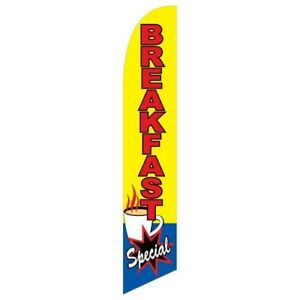 PRETZELS Banner Sign Flag Pole Display Windless Feather 2.5 wide Swooper RED