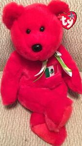 b6e85580168 TY BEANIE BUDDY OSITO Mexico Flag Teddy Bear USA Exclusive! MWMT ...