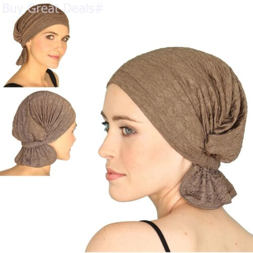Chemo Head Cap Scarf Women Cancer Patients Light-Weight Hides Hair Loss