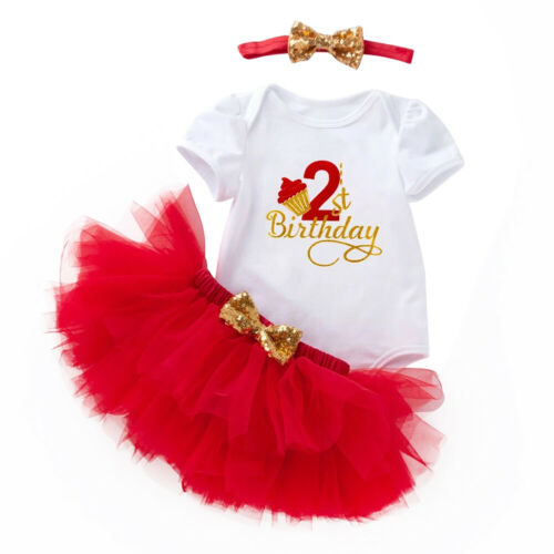 Bébé Fille 1st 2nd Birthday Party Costume Ange Tutu Jupe Gâteau SMASH SET