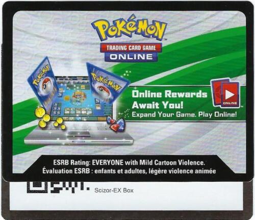 Pokemon Card x2 SCIZOR EX COLLECTION BOX ONLINE CODE