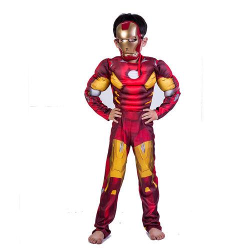 Boys Deluxe Iron Man Costume Marvel Avengers Superhero Child Fancy Dress Outfit