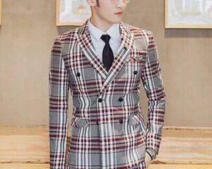 Plaid-Suit-For-Men-Blazer-Pants-Vest-Slim-Fit-Party-Event-Formal-Male-Suits-Wear