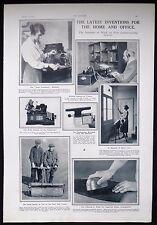 INVENTIONS SAREL GOLF COURSE ROLLER AUTO COUNTANCY MACHINE WORDOMETER ETC 1923