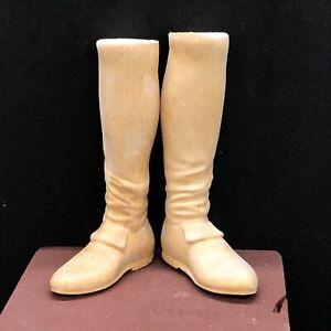 Piedi legno uomo scarpa restauro pastori 5 cm suola figura presepe Napoletano