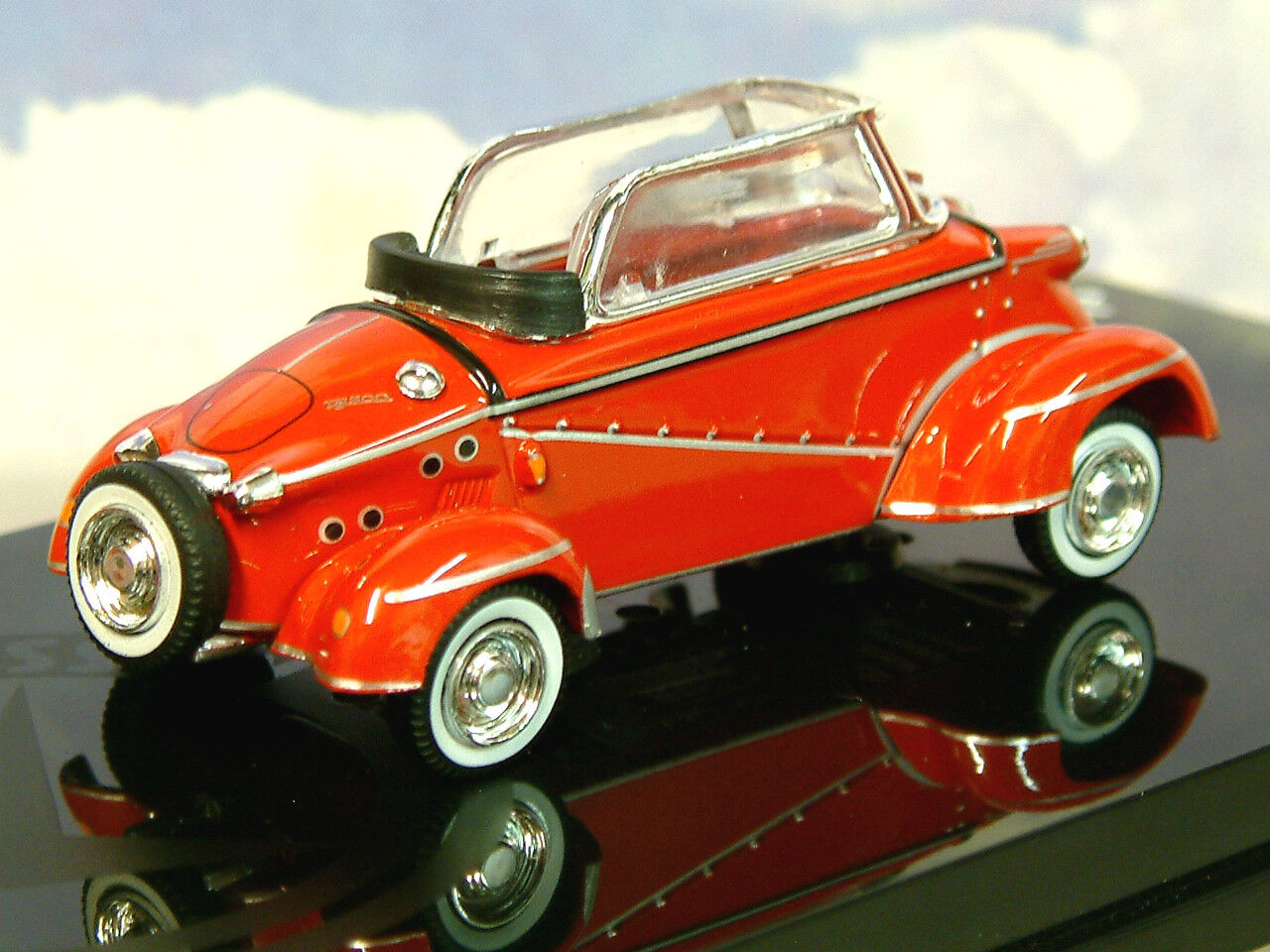 Vitesse de Metal 1 43 43 43 1958-61 Messerschmitt Tiger Tg500 Cabriolet en Rojo 29054 6d8609