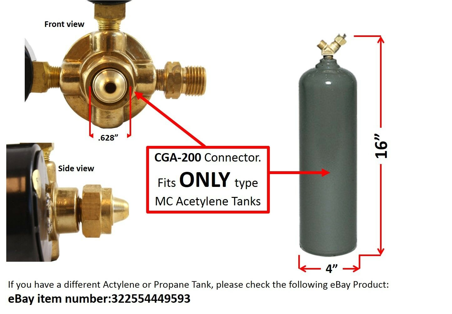 Rear Entry Oxygen and Acetylene Regulators Welding Gas Gauges SÜA LDP