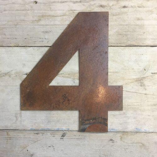 "5/"" RUSTY METAL HOUSE DOOR WALL NUMBERS SIGNS PLAQUE SIGN RUSTIC INDUSTRIAL RETRO"