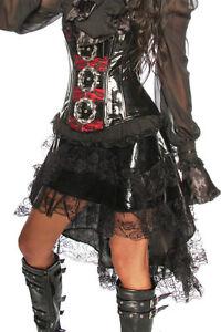 Gothic-Volant-Rock-Kostuem-Fasching-Halloween-Karneval-Verkleidung-Gothik-Schwarz