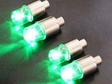 4pcs Green LED Tyre Tire Valve Caps Neon Light Bike Car motorcycle Tire led bulb