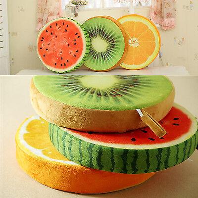 "Round Fruits Throw Logs Slice Pillow Home Car Cushion Decor Novelty 14.57""*2.76"""