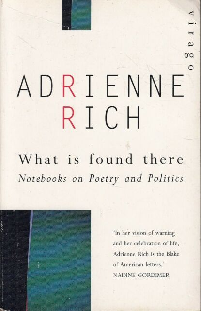 What Is Found There: Notebooks on Poetry and Po... - Adrienne Rich - Acceptab...