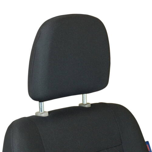 NERO spremuto motivo a quadri coprisedile FIAT Ducato Anteriore sedile del conducente