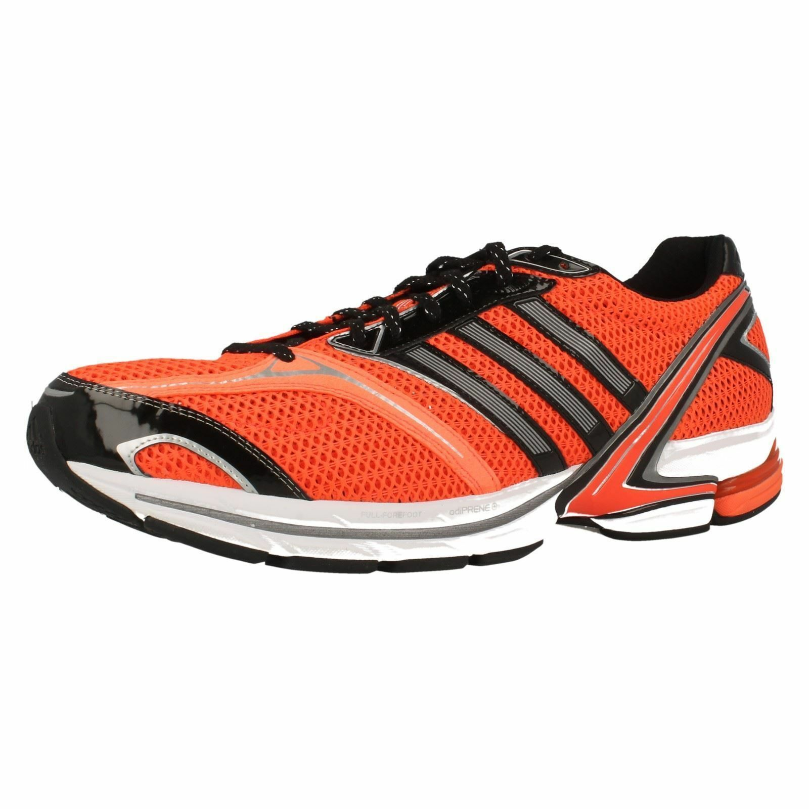 Mens Adidas Orange/Black Running Trainers 'Adizero Tempo 4M'