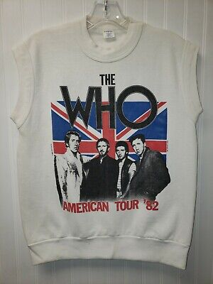 The Who American Tour 1982 Jumper Sweater Size M Sleeveless \u201882