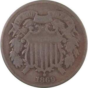1869-2c-Two-Cent-Piece-US-Coin-Genuine