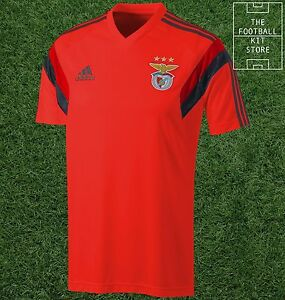 new concept f5151 d103f Details about SL Benfica Training Jersey - Official Adidas Football Shirt -  Mens - All Sizes