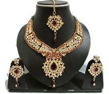 Indian Bollywood Wedding Traditional Kundan Pearl Bridal Gold P Necklace Set