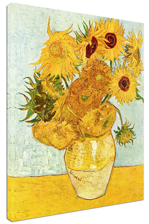 Moderne Malerei Einrichtung VAN Gogh SonnenBlaumen Haus Ausstattung Kunst   Schöne Kunst