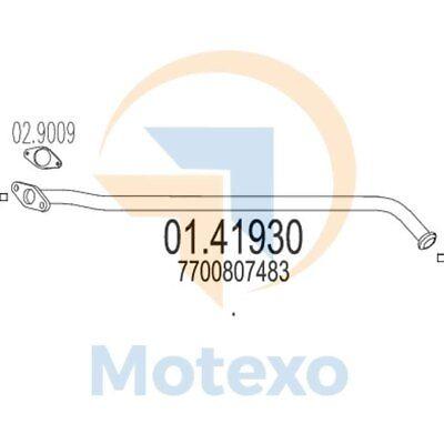 Ambizioso Mts 01.41930 Scarico Renault Clio I 1.9 Diesel 64bhp 04/90 - 04/97- Avere Una Lunga Posizione Storica