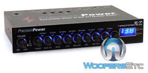 PRECISION-POWER-E-7-BAND-PARAMETRIC-DIGITAL-EQUALIZER-7-VOLT-STEREO-PRE-AMP-NEW