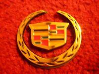 Cadillac Ats Cts Cts-v Escalade Crx Xlr Eldorado Wreath Emblem Badge Gold