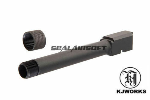 KJ Works Threaded Airsoft Barrel For CZ P-09 GBB (14mm CCW) KJW-OB-ASGP09-CCW